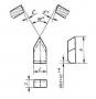 Пластина 11190 ВК6 (6х16х4) (для резьбовых резцов)