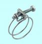 Хомут проволочный винтовой CNIC 89-95/2.5мм, М8х70мм, W1 оцинкованный 55А8995