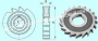 Фреза дисковая пазовая 125х25х32 Р18, Z =22 затылованная  CNIC
