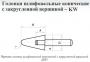Головка абразивная 20х32х6 KE(ГКЗ) ADW 30(63Н) M(С1) с хвостовиком PFERD