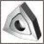 Пластина WNUM - 100408 ВК8(YG8) трёхгранная ломаная dвн=6мм (02114) со стружколомом