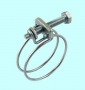 Хомут проволочный винтовой CNIC 80-85/2.5мм, М6х70мм, W1 оцинкованный 55А8085