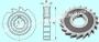 Фреза дисковая пазовая 50х 7х16 Р18, Z =14 затылованная  CNIC