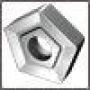 Пластина PNMM - 110408 ВК8 (YG8) пятигранная dвн=6мм (10124) со стружколомом