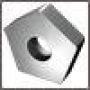 Пластина PNEA - 110408 Т15К6 (YT15) пятигранная dвн=6мм (10153) гладкая