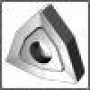 Пластина WNUM - 100412 Т5К10(YT5) трёхгранная ломаная dвн=6мм (02114) со стружколомом