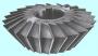 Фреза Двухугловая несимметричная 80х20х27мм, 80°(65°+15°) Р6АМ5 Z=22
